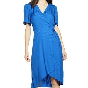 Leith Polka Dot Tie Wrap Dress